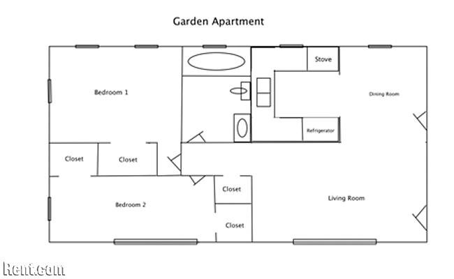 Garden Apartment Floor Plan